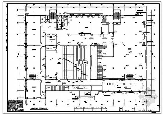 江西某高校图书馆给排水施工图