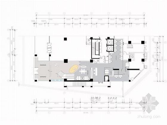 [湖南]连锁品牌精装现代风格餐厅室内装修设计方案