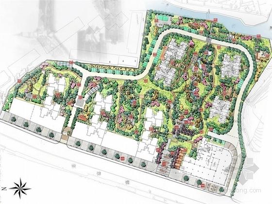 """[宜昌]""""中式园林""""风格滨水居住小区景观设计深化方案"""