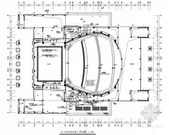 [浙江]醫科大學校園工程電氣施工圖(圖書館、會堂、風雨操場、地下室)