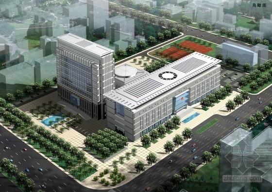 [郑州]玻璃体入口上倾立面市级机关办公楼建筑设计方案文本(含CAD)