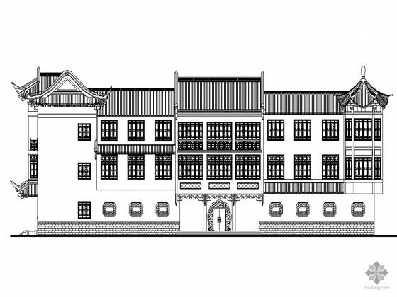 [青浦区青浦城]某综合商业建筑群(仿古建筑)建筑设计施工图