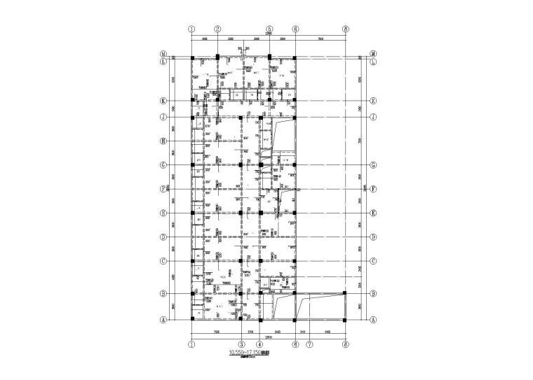 栾川8层框架结构病房楼建筑结构施工图2016