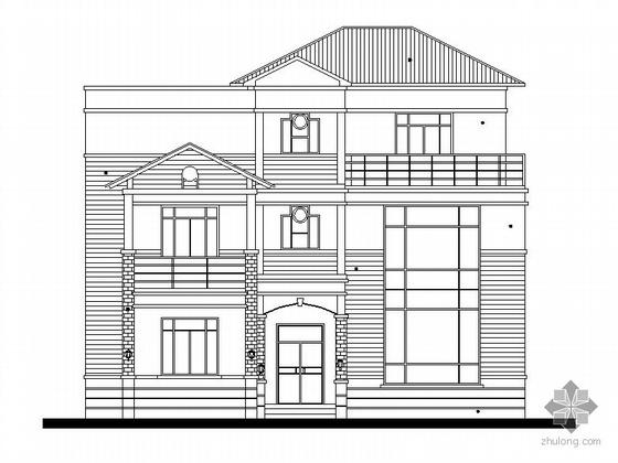 某三层别墅建筑施工图(含效果图)