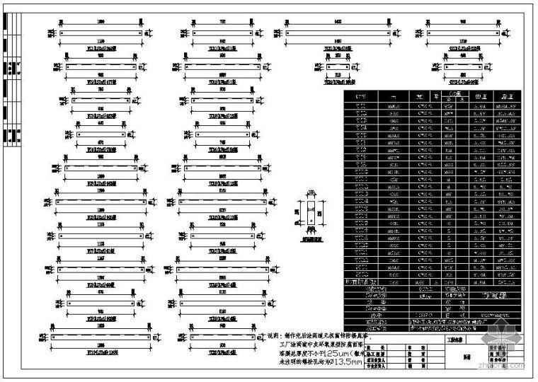 某设备厂隅撑拆图节点构造详图