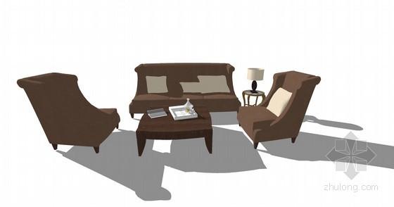 仿古沙发SketchUp模型下载