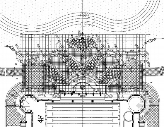 [东莞]居住区综合楼广场园林景观工程施工图-图7