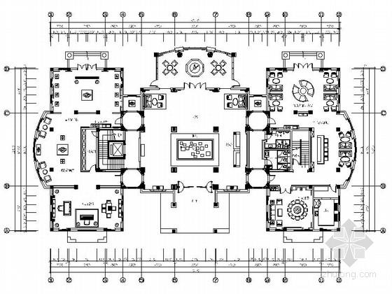 [临沂]高档欧式梦幻奢华会所设计施工图