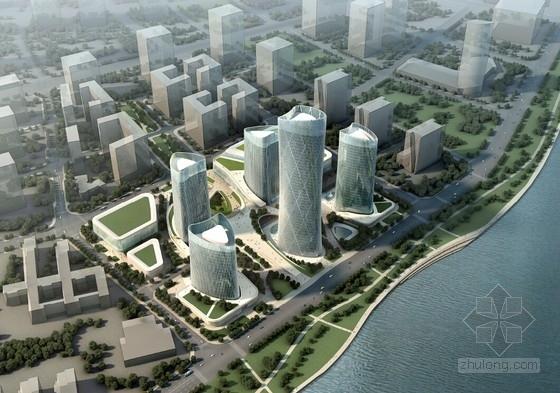 [浙江]超高层沿海商务核心区建筑设计方案文本(含五座塔楼)