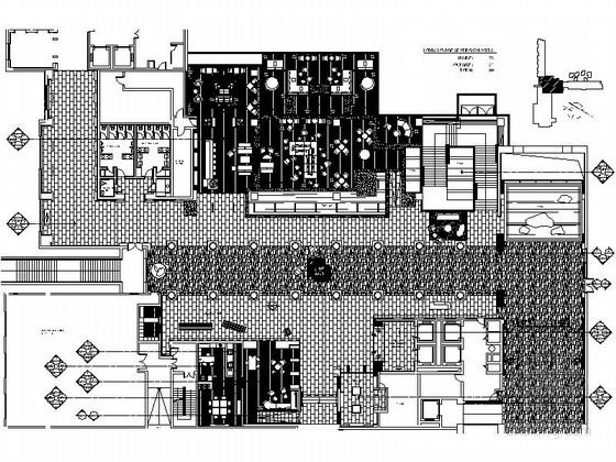 [浙江]度假酒店大堂室内装修CAD施工图(含效果)