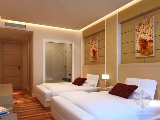 酒店标准间3d模型下载