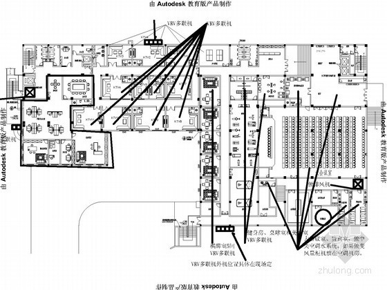 高层酒店空调水系统设计施工图(VRV多联系统)