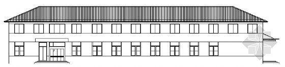 某二层办公楼建筑方案图
