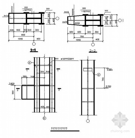 门式钢架详图之牛腿结构