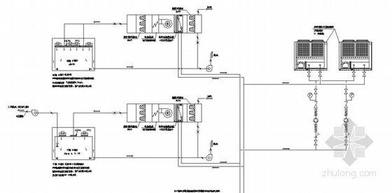 某微电子厂洁净空调系统流程图