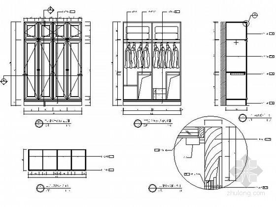 小卧房衣柜详图