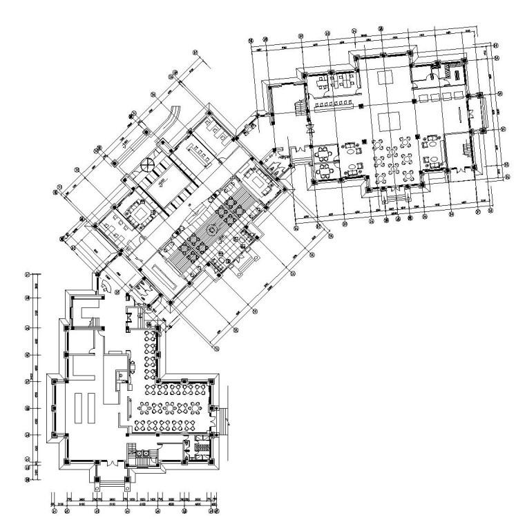 [安徽]某大型休闲会所内部装修施工图设计(附效果图)