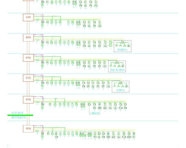 某图书馆电气施工图全套(含电气、照明、配电、消防联动)_7