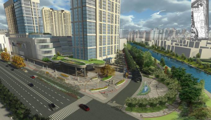 [辽宁]低调壕气品质滨水住宅小区景观设计全套图纸(方案+建筑CAD、PDF施工图+SU模型)