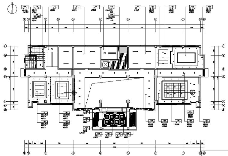 [江苏]豪华中式办公楼设计施工图(附效果图)