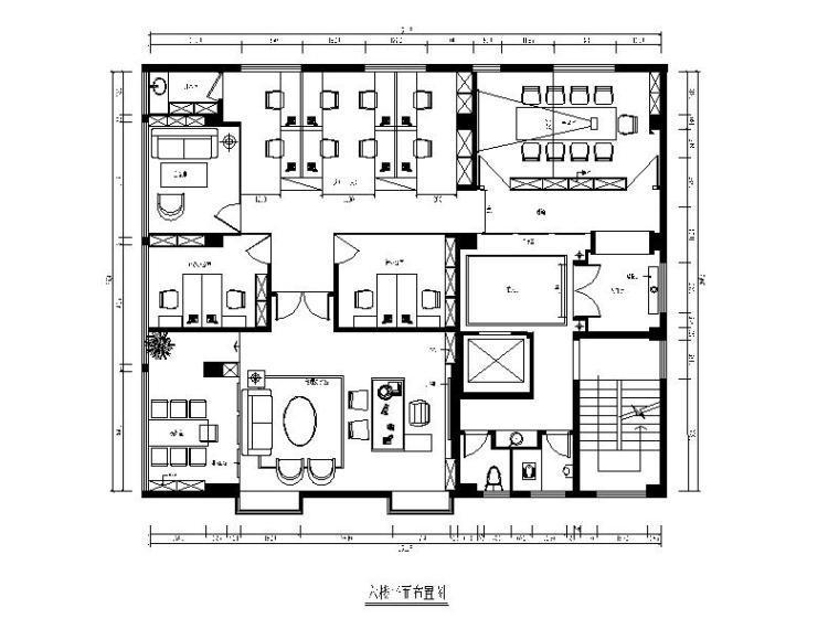 [福建]混搭风格典当行办公楼设计CAD施工图(含效果图)