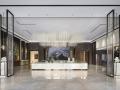 佛山520㎡售楼处,现代的材质、舒服的色调搭配……