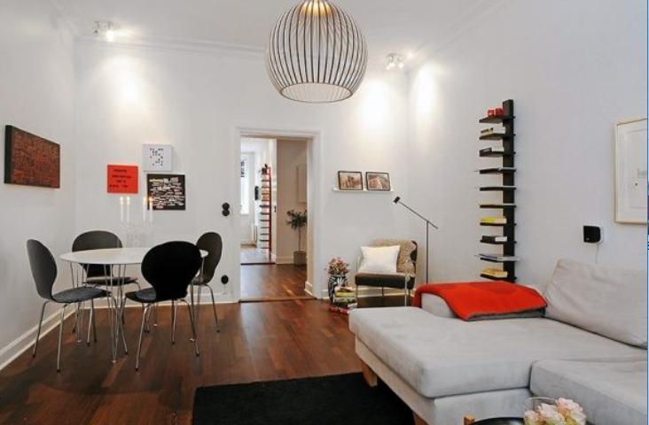 火红热情时尚住宅一居室室内装修设计实景图(18张)