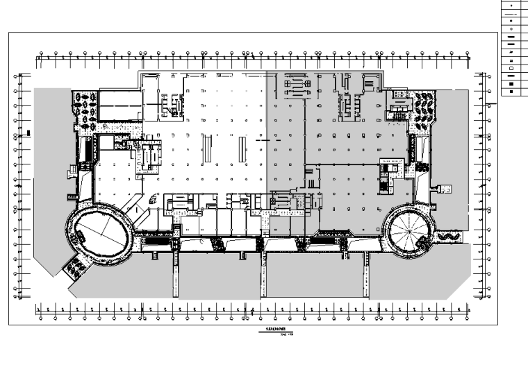 万达广场购物中心室内设计施工图(附效果图)-天花综合平面图