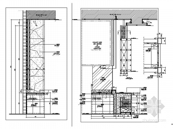 [海南]五星级酒店全日餐厅室内装修施工图-[海南]五星级酒店室内装修施工图立面图