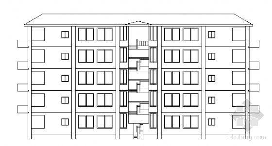某五层住宅楼建筑结构方案图(毕业设计)