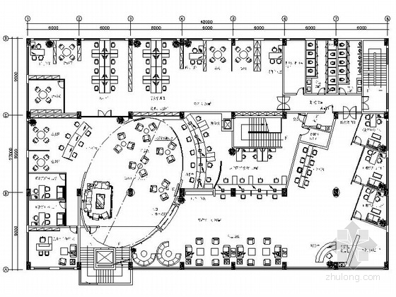 [深圳]地方性农村商业金融机构支行室内装修施工图(含电气图)