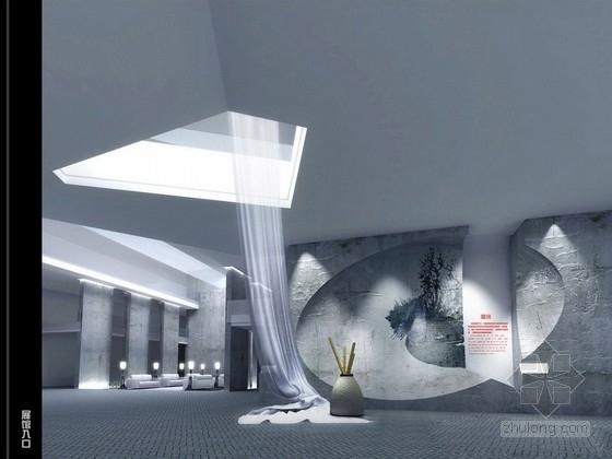 [广州]经典新中式休闲综合会馆设计概念方案