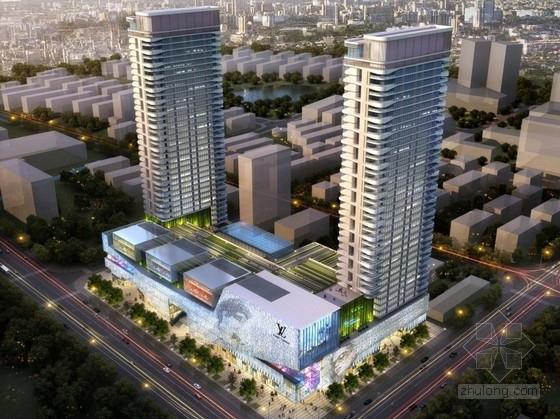 [浙江]现代风格底层商业及高层住宅建筑概念性设计方案文本
