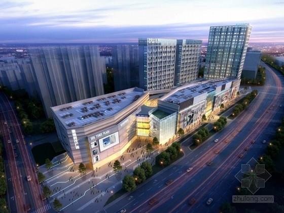 [广东]20层现代风格绿色商业综合体建筑设计方案文本(含CAD)