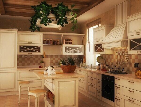田园风格的厨房怎么装修