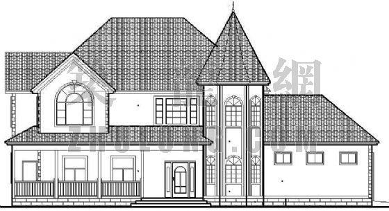 某美式别墅建筑施工图