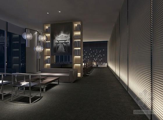 [无锡]独具特色现代中式四居室装修设计方案图餐厅效果图