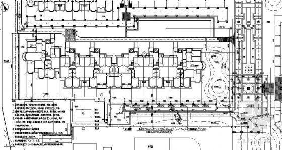 楼前广场绿地给排水详图