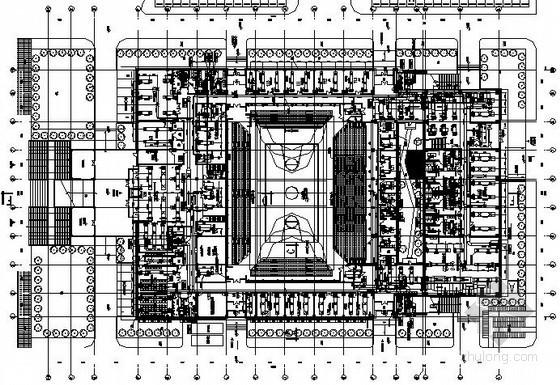 [天津]知名大学体育馆空调设计施工图(送风方式多样 知名设计院)