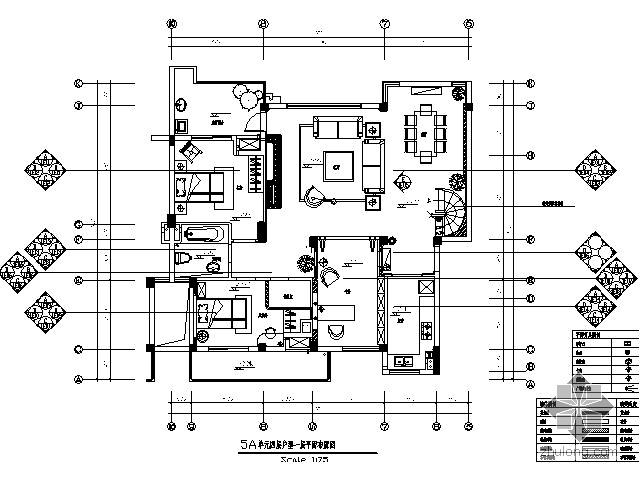 [武汉]名师复式样板间施工图(含实景)