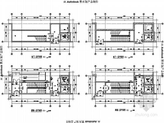 [安徽]Artdeco风格三十二住宅安置区建筑施工图(画图精细推荐参考)-Artdeco风格三十二住宅安置区建筑大样图