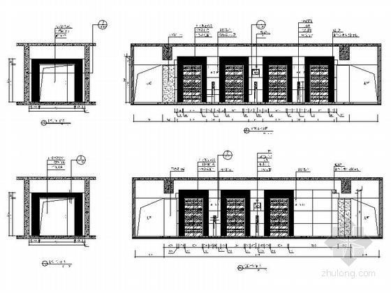 [深圳]高端商务核心区现代科技大厦室内装修图(含效果)电梯厅立面图