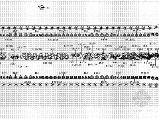 [安徽]城市主干道道路绿化工程施工图设计47张