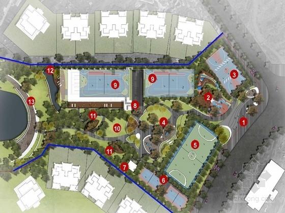 [重庆]台地花瓣体育公园规划设计方案