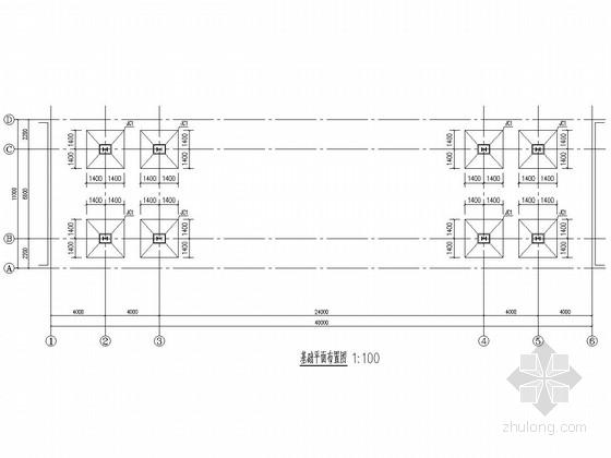 物流园钢结构大门结构施工图