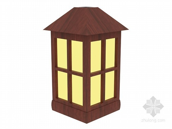 中式景观灯3D模型下载