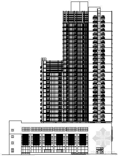 [长沙]某三十一层酒店式公寓建筑扩初图