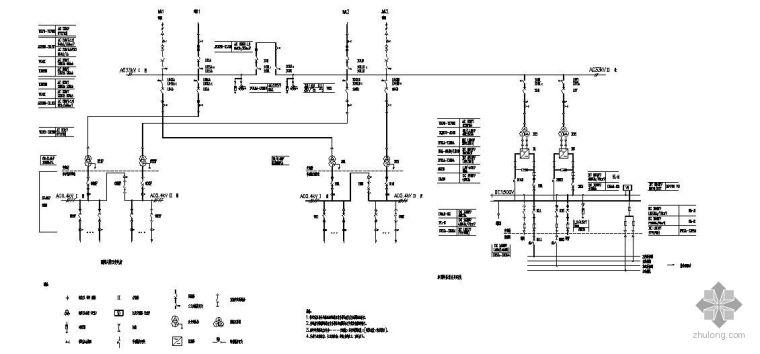 某地铁牵引降压混合变电所全套电气图纸