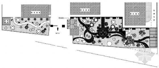 某干休所庭院绿化布置平面图