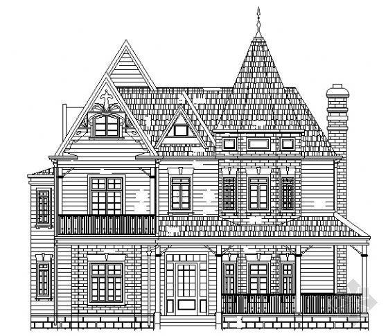 某三层别墅建筑结构水暖电施工图